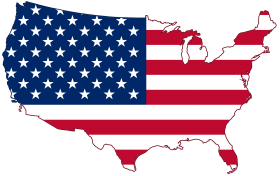 Map of America - American Flag PNG