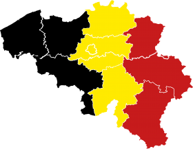 Map of Belgium - Flag of Belgium PNG