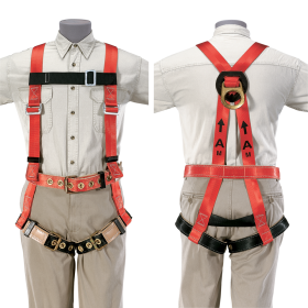 Men Climbing Harness Front and Back PNG