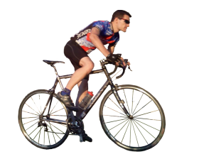 Men Ride Bicycle PNG