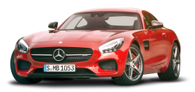 Mercedes AMG GT Red Car PNG