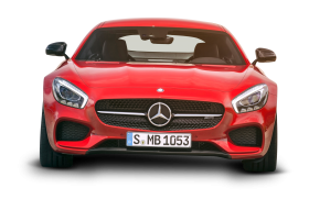 Mercedes AMG GT Red Car Front PNG