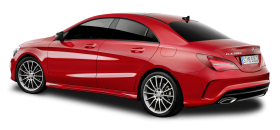 Mercedes Benz CLA Red Car PNG