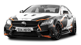 Mercedes Benz CLS 500 Black Car PNG