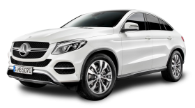 Mercedes Benz GLE Coupe White Car PNG
