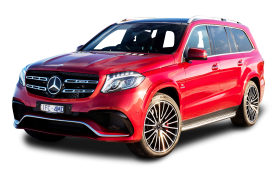 Mercedes Benz GLS Class Red Car PNG
