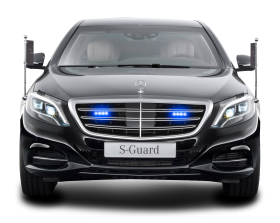 Mercedes Benz S 600 Guard President Black Car PNG