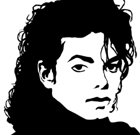 Micheal Jackson Sketch PNG