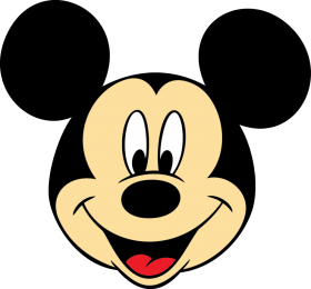 Mickey Mouse Face PNG
