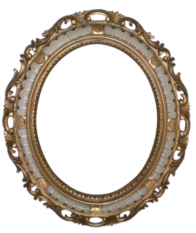 Mirror with Decorative Frame PNG