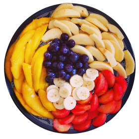 Mixed Fruits in a Plate PNG