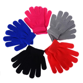 Multicolored Winter Gloves PNG