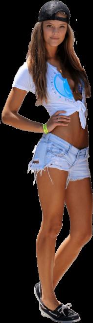 Nina Agdal Short Jeans PNG