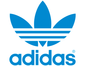 Old blue flower adidas Logo PNG