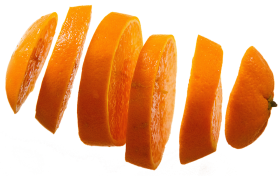 One Orange in Many Slices PNG