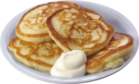 Pancakes in Plate PNG