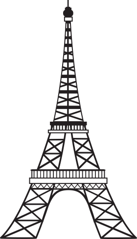 Artist Impression of Eiffel Tower - Paris PNG