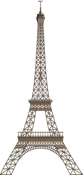 Two Dimensional Eiffel Tower - Paris PNG