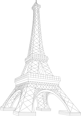 Architectural Impression of Eiffel Tower - Paris PNG