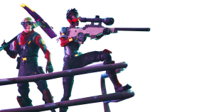 People Aiming Fortnite Thumbnail Template PNG