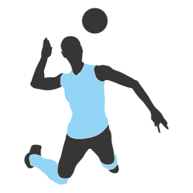 Person Play Volleyball PNG