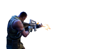 Person Shooting Fortnite Thumbnail Template PNG