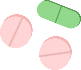 Pink and Green Tablets PNG