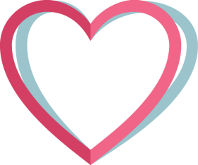 Pink Heart Outline PNG