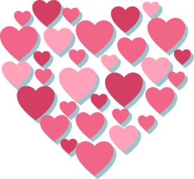 Pink Hearts PNG