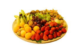 Plate Full of Fruits PNG