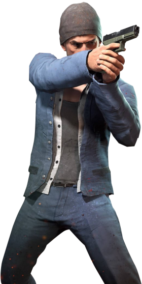 Playerunknown's Battlegrounds man with gun (pubg) PNG
