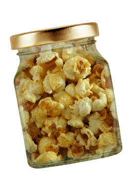 Popcorn in Jar PNG