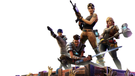 Posing Fortnite Thumbnail Template PNG