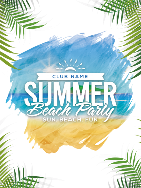 Summer Beach Party Poster  PNG