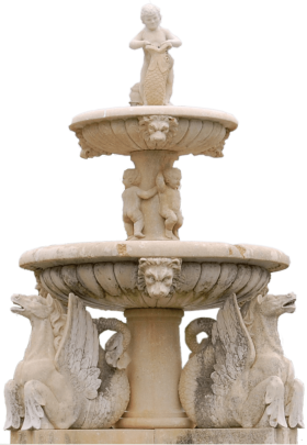 2 Stage Fountain PNG