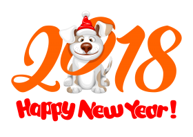 2018 Happy New Year PNG