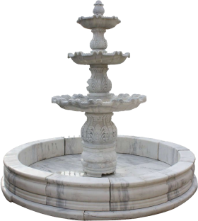 3 Stage Fountain PNG