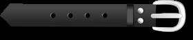 A simple Belt Clip art PNG