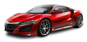 Acura NSX Red Car PNG