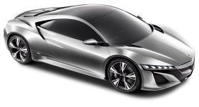 Acura NSX Silver Car PNG