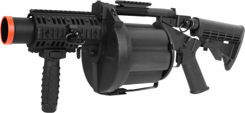 Air Soft Grenade Launcher PNG PNG