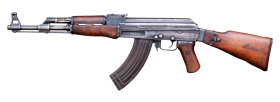 Ak 47 with wooden grip PNG