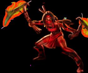 Akali Crimson skin Splashart old PNG