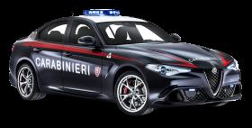 Alfa Romeo Police Car PNG