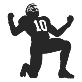 American Football Player Clipart PNG