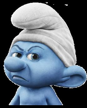 Angry Smurf PNG