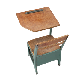 Antique School Desk PNG