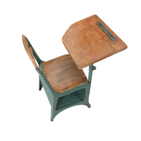 Antique School Desk PNG