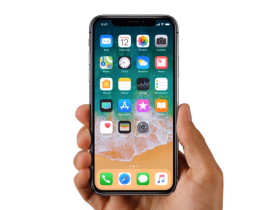 Apple iPhone X in Hands PNG