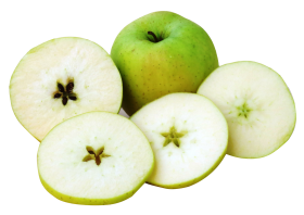 Apple with slice PNG